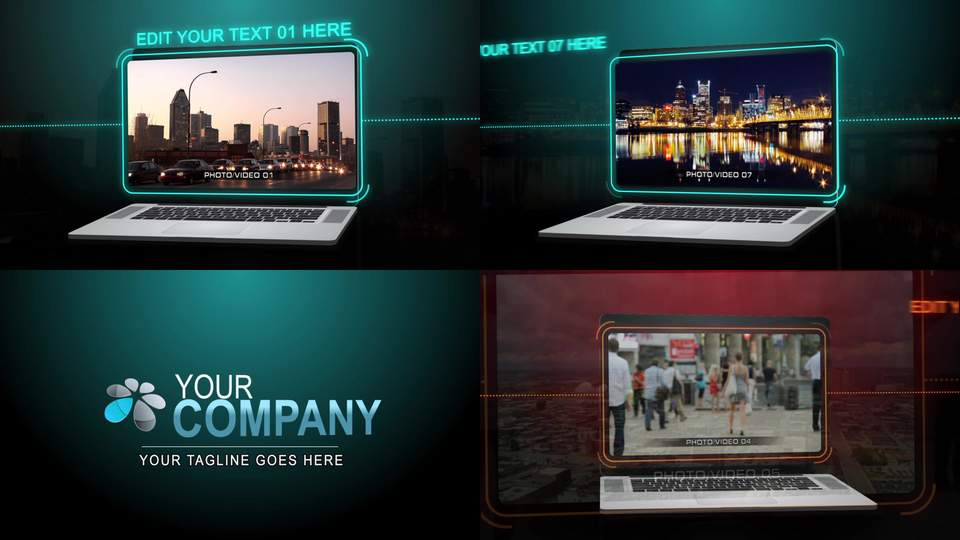 Laptop Presentation After Effects Template After Effects Templates - After effects template editing