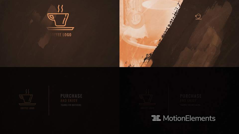 Coffee Drink Menu  Coffee Restaurant Display Bundle After Effects