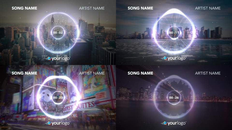 Music Visualizer 02 After Effects Template Templates
