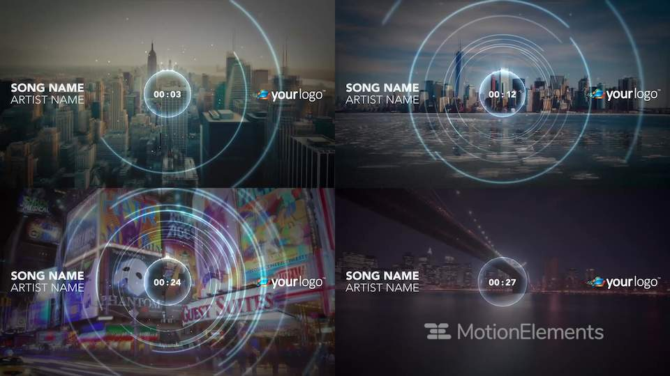 Music Visualizer 03 After Effects Template Templates
