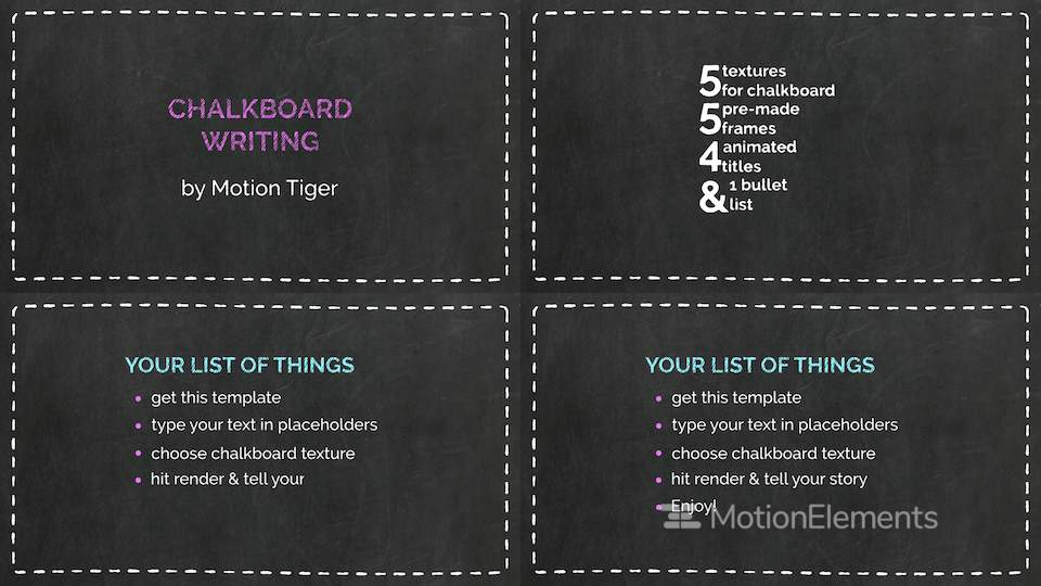 chalkboard writing template after effects templates 11413943
