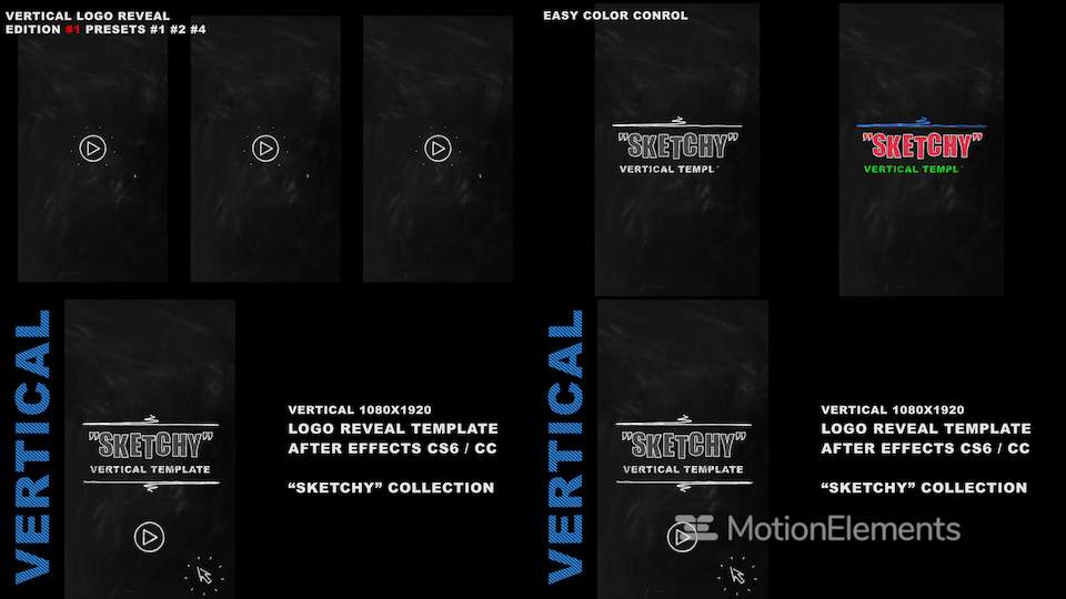 Vertical Logo Reveal Intro After Effects Templates 11434155