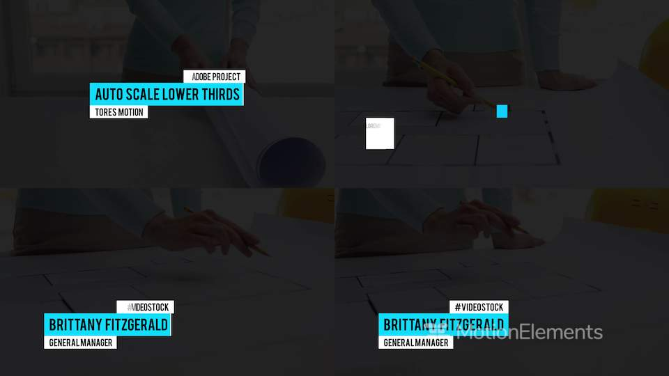 Lower Thirds Auto Scale After Effects templates