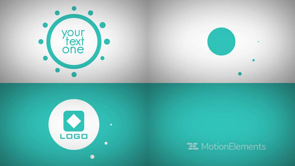 flat color design text titles logo animation intro after effects templates 4230762