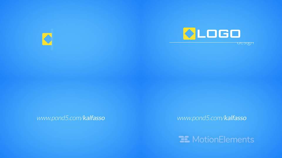 Corporate Line Logo Reveal Business Text Titles Animated Intro