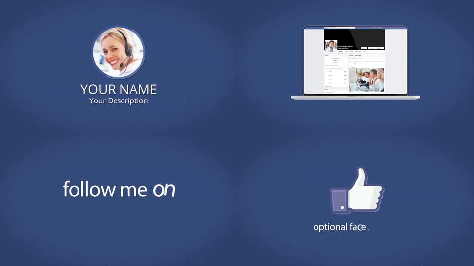 facebook multi devices presentation - after effects template after, Powerpoint templates