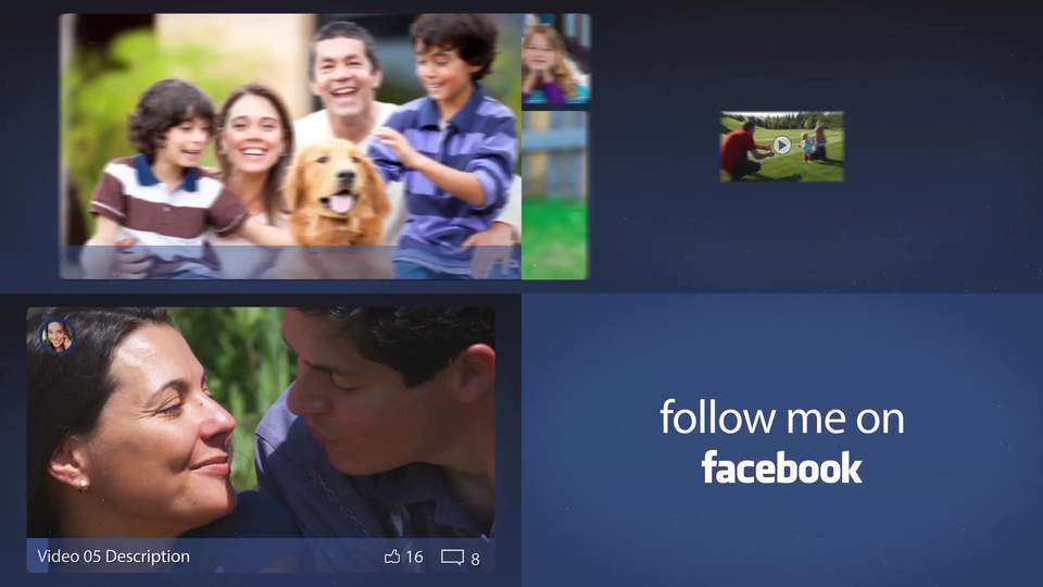 Facebook Slideshow After Effects Template After Effects Templates - Facebook video template
