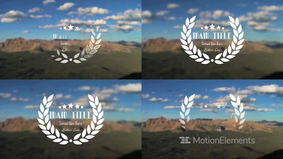cesar star title apple motion and final cut pro x template apple
