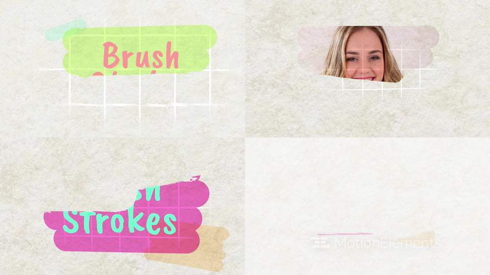 Brush Strokes Apple Motion templates