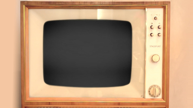 retro tv with alpha channel stock video footage 6856598