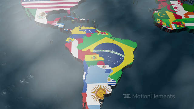 3d world map to south america with clouds animacin 529619 gumiabroncs Image collections