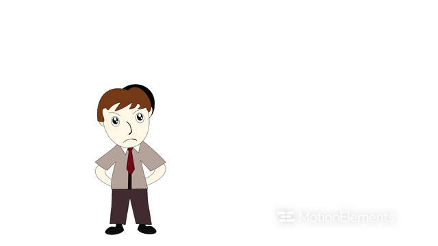 Business Man Thinking On A White Background Screen Cartoon With An Idea Stock Video Footage