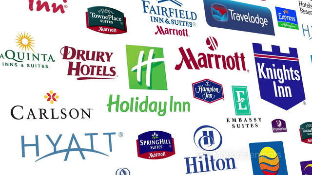 Hotel Brands Logo Loop Stock Animation 7165975