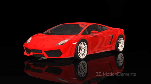 Luxury Sport Car Lamborghini Red Color Moving Rotation Stock Video