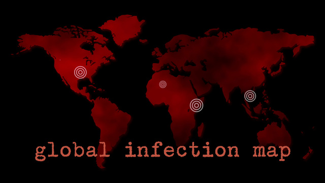 Red global infection map epidemic stock animation 5515014 publicscrutiny Gallery