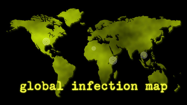 Yellow global infection map epidemic stock animation 5758766 publicscrutiny Gallery