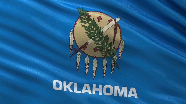 Us State Flag Of Oklahoma Seamless Loop Stock Animation 3493356