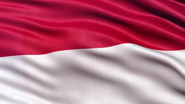 4k indonesia flag seamless loop ultra hd stock animation 8949091