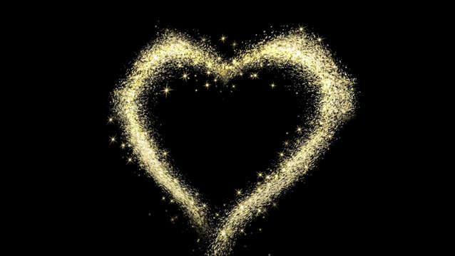 Magic Particles Stars Heart 2k Stock Animation 11375479