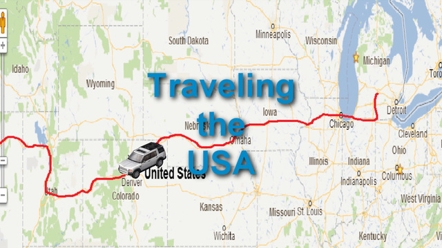 u s map travel animation with car icon stock animation 820672